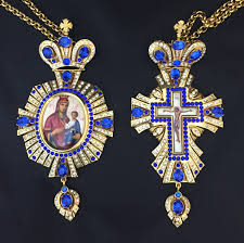 pectoral crosses blue jeweled pectoral cross panagia st tikhon s bookstore press