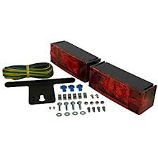 amazon com blazer c6423 square trailer light kit red automotive