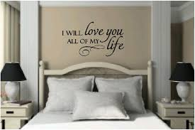 vinyl wall quote vinyl wall decals quotes decorating vinyl wall vinyl wall quotes bedroom quotes love quotes i will love you all my life