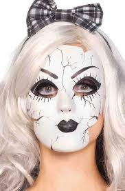 evil woman halloween costume broken porcelain doll mask women u0027s evil victorian doll mask