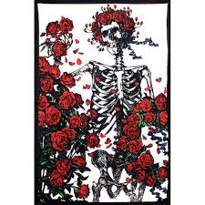 amazon com grateful dead skeleton and roses tapestry home u0026 kitchen