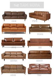 tan leather sofa round up kassandra dekoning