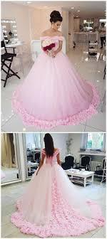 quinceanera dresses pink gown shoulder pink tulle wedding dresses pink quinceanera