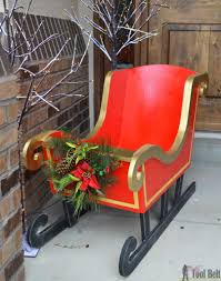 diy santa sleigh free pattern patterns and christmas decor
