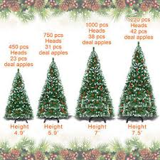 5 6 7 7 5ft snow tipped artificial tree w base and pine