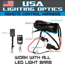 Led Light Bar Wiring Harness by Amazon Com Wireless Remote Control Universal Wiring Harness Off