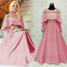 wedding dress syari pre order muslimah sleeve oscar syari maroon blue