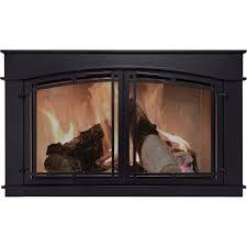 pleasant hearth fieldcrest fireplace glass door u2014 black model fc
