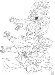 goku sons unleashing kamehameha dragon ball coloring