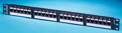 category 5e patch panel 24 port universal t568a b wiring six