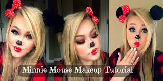 Pink Halloween Makeup by Minnie Mouse Halloween Makeup Tutorial Youtube