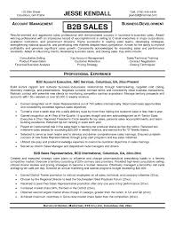 Resume Templates Sales Sales Resume Example Sample Software Sales Resume Template Free