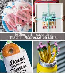 10 inexpensive and unisex teacher appreciation gift ideas