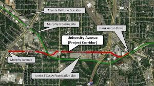 Atlanta Beltline Trail Map by Beltline Seeks Study For Redevelopment Of University Avenue
