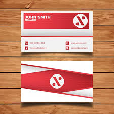 red minimal business card template vector free download