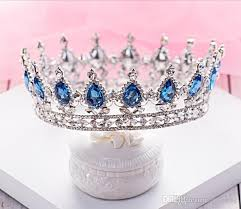 tiaras for sale best selling sapphire blue crowns european princess large size
