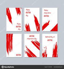 austria patriotic cards for national day expressive brush stroke