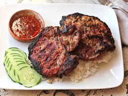 vietnamese grilled lemongrass pork chops thit heo nuong xa