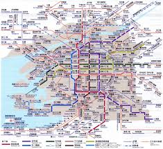 Osaka Train Map Osaka Map Map Travel Holiday Vacations