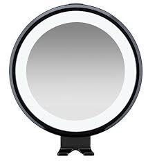 conair led lighted mirror amazon com conair fog free led lighted shower mirror with razor