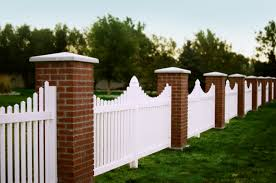 gorgeous picket and brick fence absolute vinyl