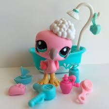 Pink Flamingo Bathroom Accessories by Littlest Pet Shop Cute Pink Flamingo 1023 W Tub U0026 Bath