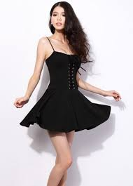 hot dress hot spaghetti design woman dress black on luulla