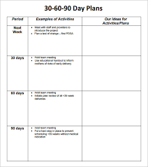 Business Template Plan by 30 60 90 Day Plan Template Free Best Business Template