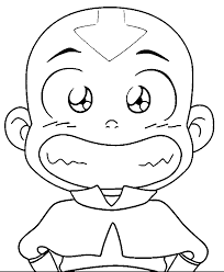 avatar aang coloring pages wecoloringpage