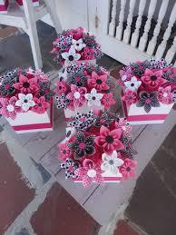 paper flower centerpieces origami paper flower centerpiece set of 5 kusudama by poshstudios