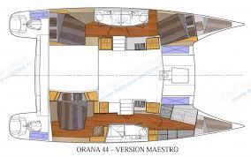 Catamaran Floor Plans Orana 44 Fountaine Pajot Catamarans Orana 44 Sailing Catamaran On
