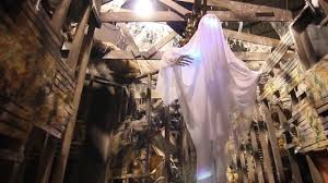 colour changing skeleton ghost animated props halloween props