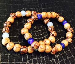 colored bead bracelet images Set of 2 african painted wood with colored bead stretch bracelets jpeg