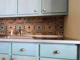 nice moroccan kitchen decor blue ceramic moroccan backsplash tile