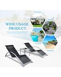 spectacular deal on ikayaa outdoor double chaise rocker w canopy
