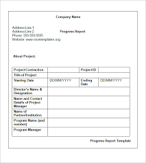weekly status report template 16 free word documents download