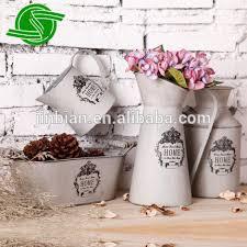 Galvanised Vases Galvanized Metal Bucket Vase Galvanized Metal Bucket Vase