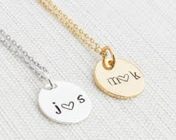 custom necklaces for couples couples necklace etsy