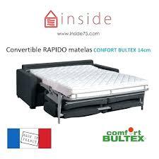 matelas canape lit matelas canape lit bultex canapac convertible ouverture express au