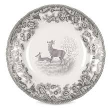 spode delamere rural 6 inch deer plate set of 4 spode uk