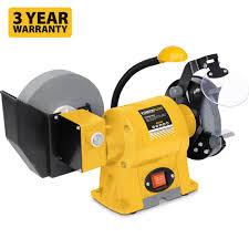 powerplus bench grinder with 2 x 150mm stones ukhs tv