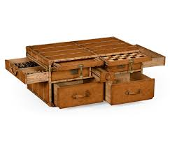 Trunk Style Coffee Table Brown Rectangle Wood Trunk Style Coffee Table With A Lot Of