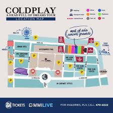 sm mall of asia floor plan how to have an adventure of a lifetime at coldplay u0027s first concert