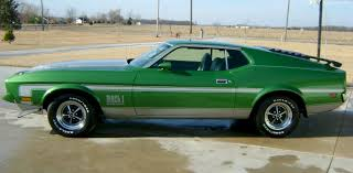 Green And Black Mustang Green 1972 Mach 1 Ford Mustang Fastback Mustangattitude Com Mobile