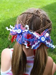 fourth of july hair bows fourth of july hair a girl and a glue gun