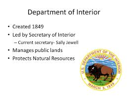 Who Is The Head Of The Department Of Interior All The Presidents Men And Women The Federal Bureaucracy Ppt