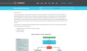 online acls recertification course emedcert
