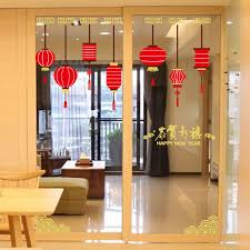 Happy New Year Window Decorations by New Removable Chinese Style Happy New Year Wall Stickers For Home