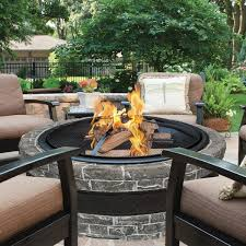 pit fires sun joe cast stone wood fire pit u0026 reviews wayfair