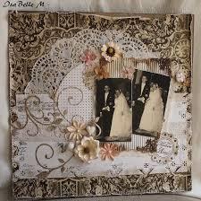 scrapbooking mariage page héritage mariage de mes parents scrap